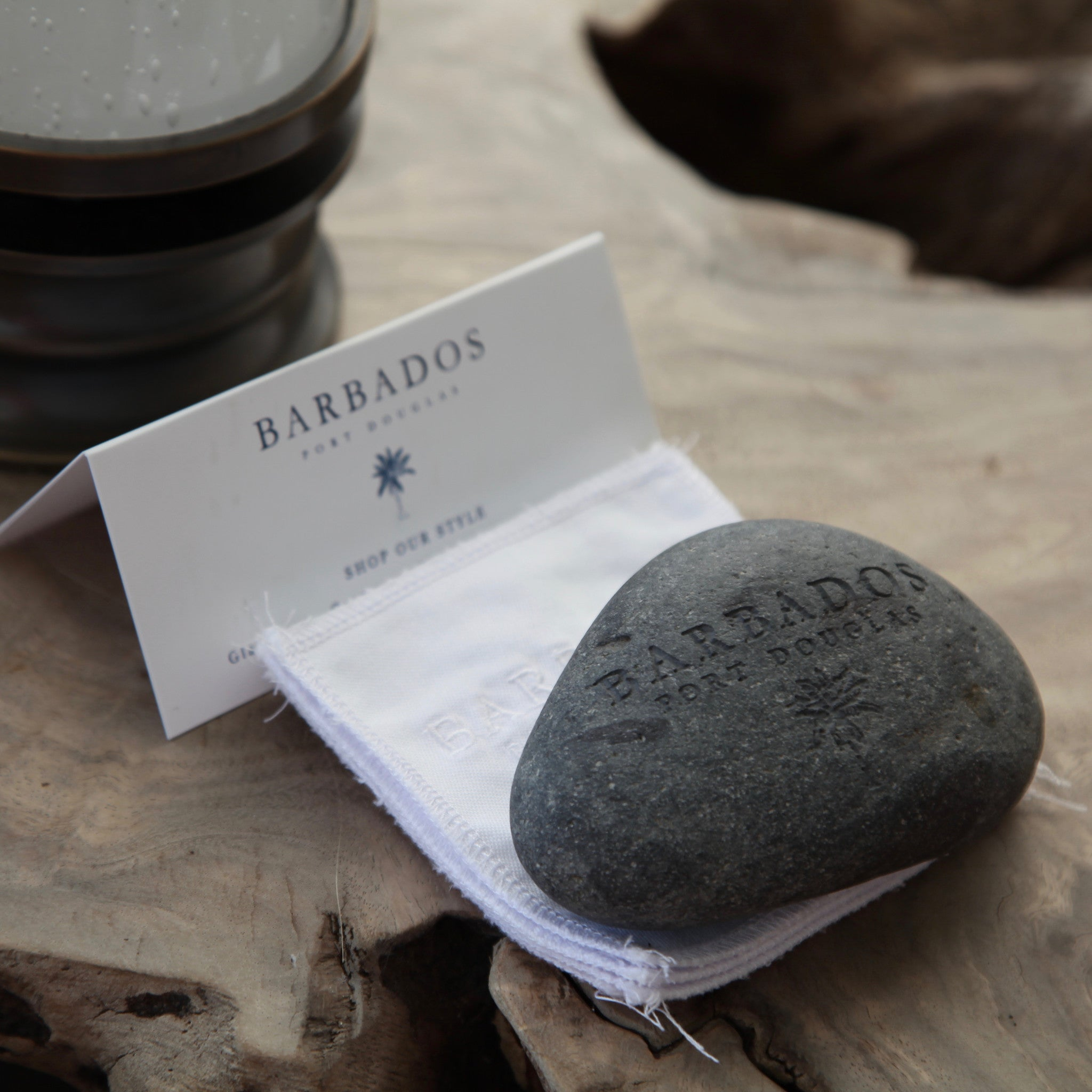 "signature ""barbados"" set of coasters"