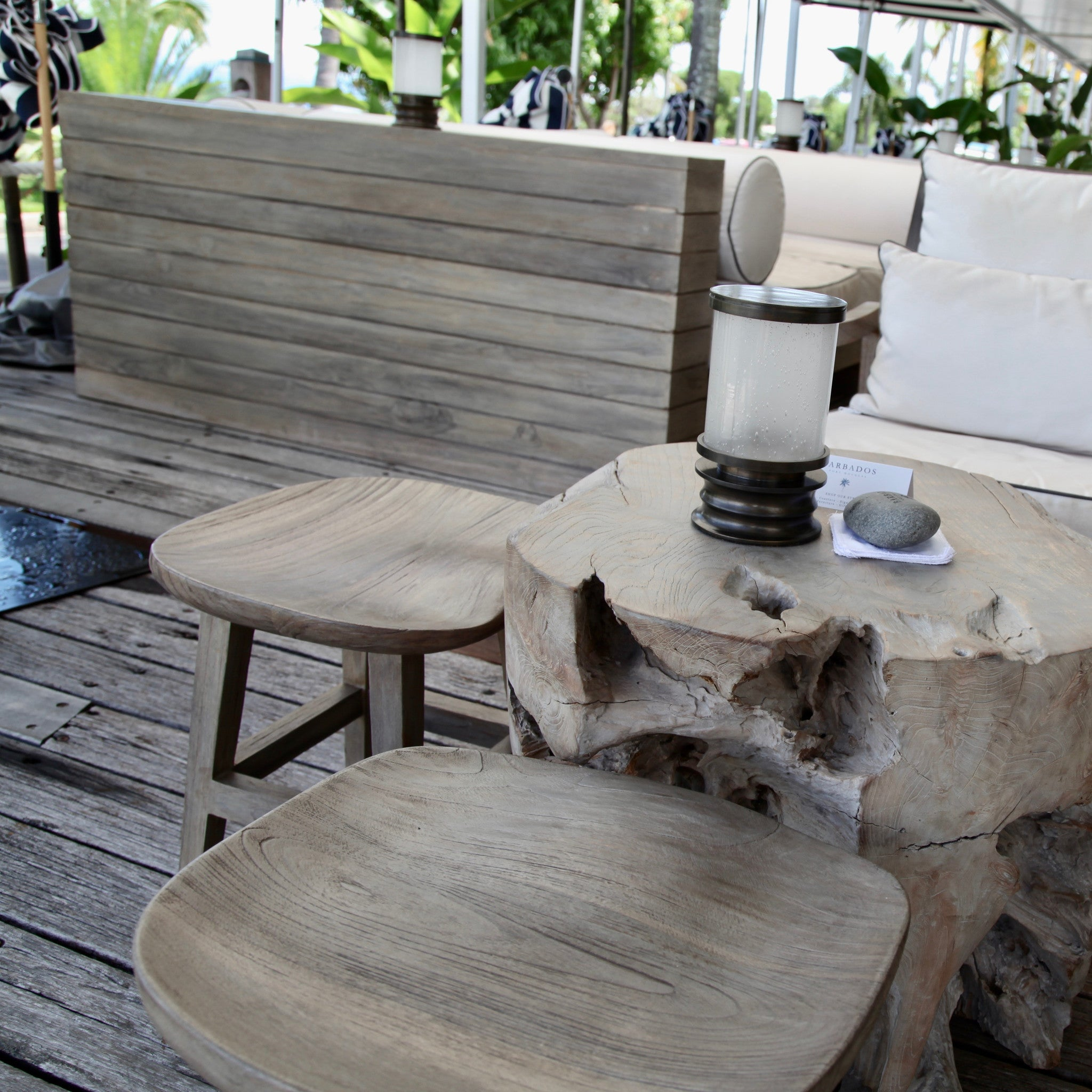 signature tree trunk table