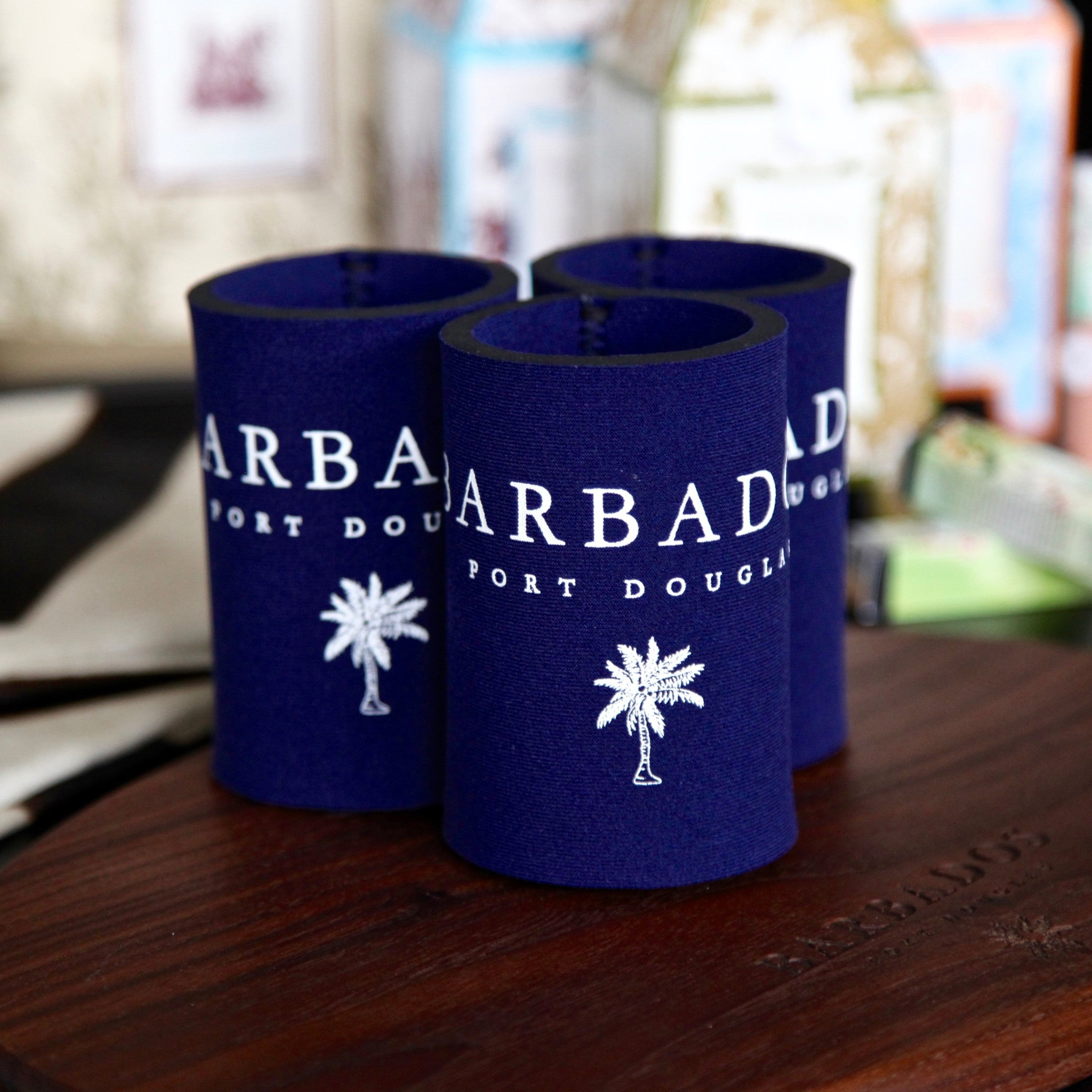 "signature ""barbados"" drink holder"