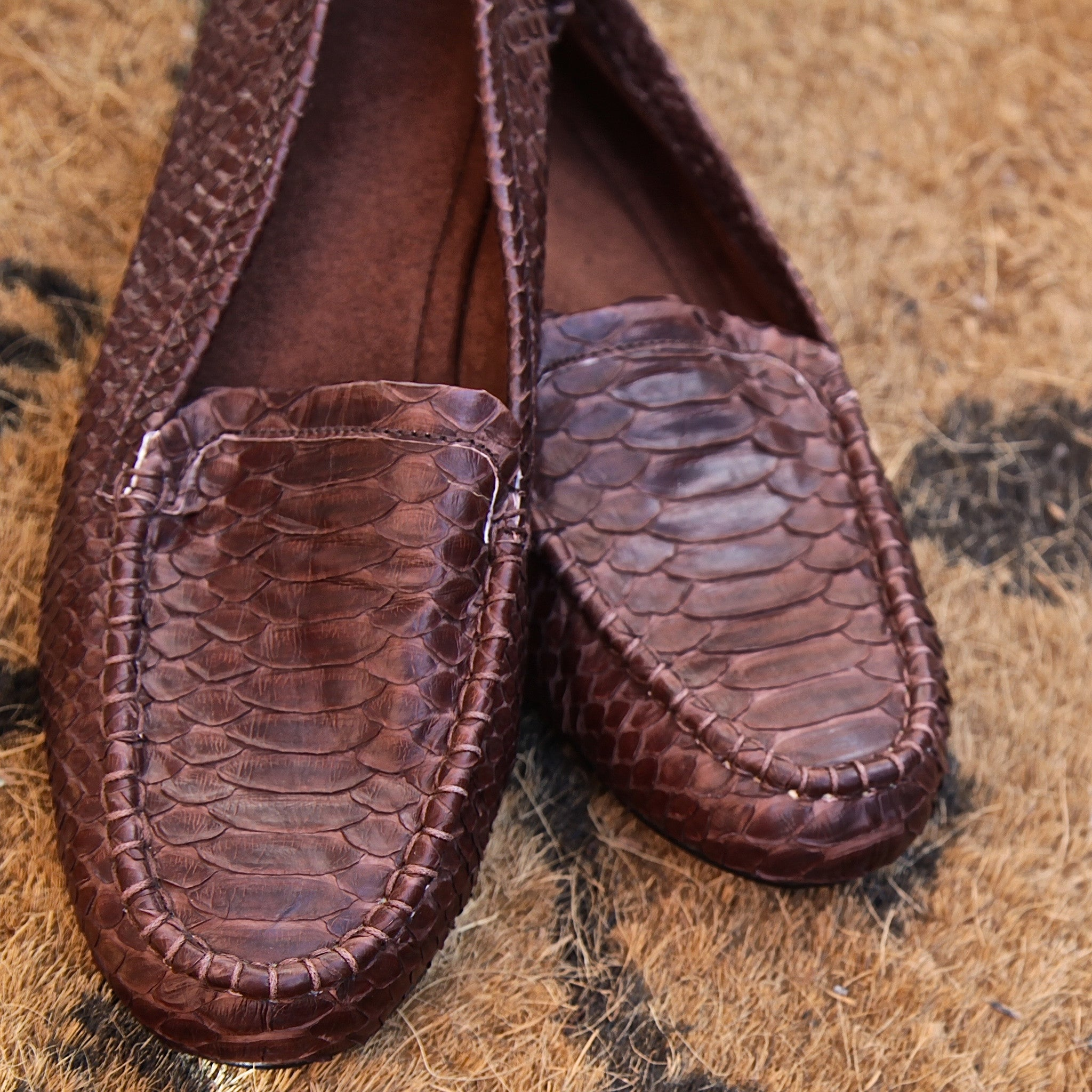 classic python loafers