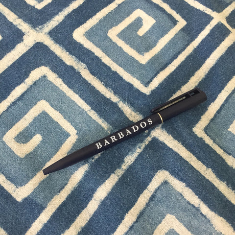 """barbados"" pens - set of 5"