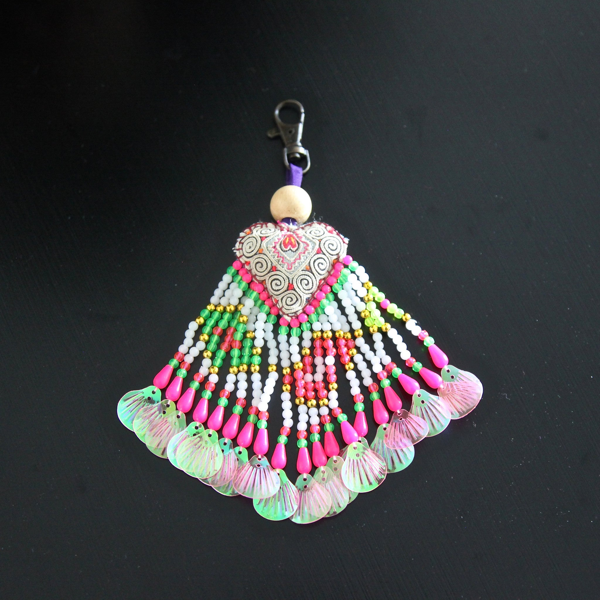 beaded bag tassel