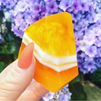 Orange Selenite Crystal Inspired Luxury Artisan Soap