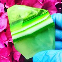 Peridot Crystal Inspired Luxury Artisan Soap