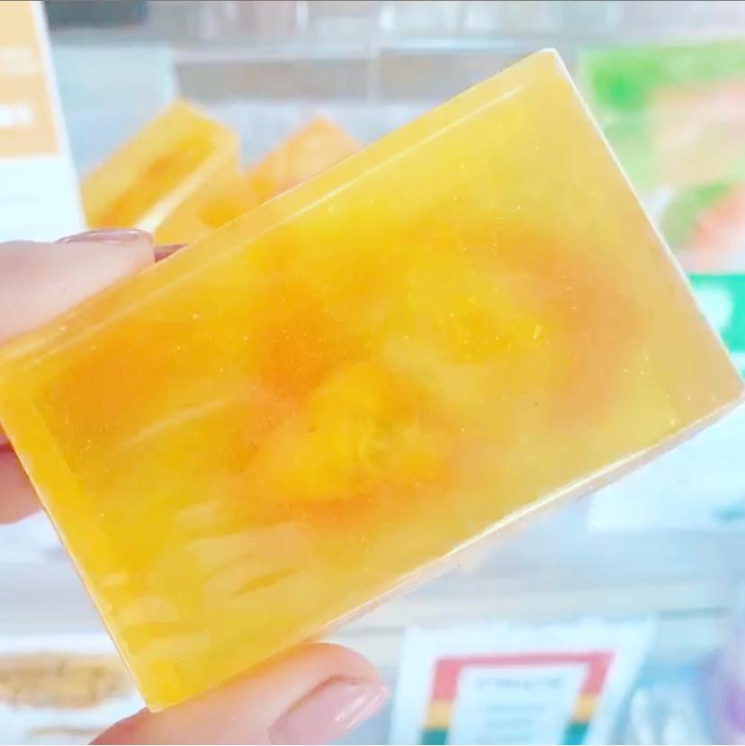 Solar Pexus Chakra Cleansing Bar- Bergamot-Grapefruit. Citrine Crystal