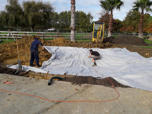 Geotextile underlay (Protection for Pond liner) 4.0 metres wide, cut to size, sold per lineal metre