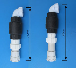 Aquatic Lifestyles 40mm Adjustable Check Valve (non-return valve) & coupling for Skimmer, fits most pumps