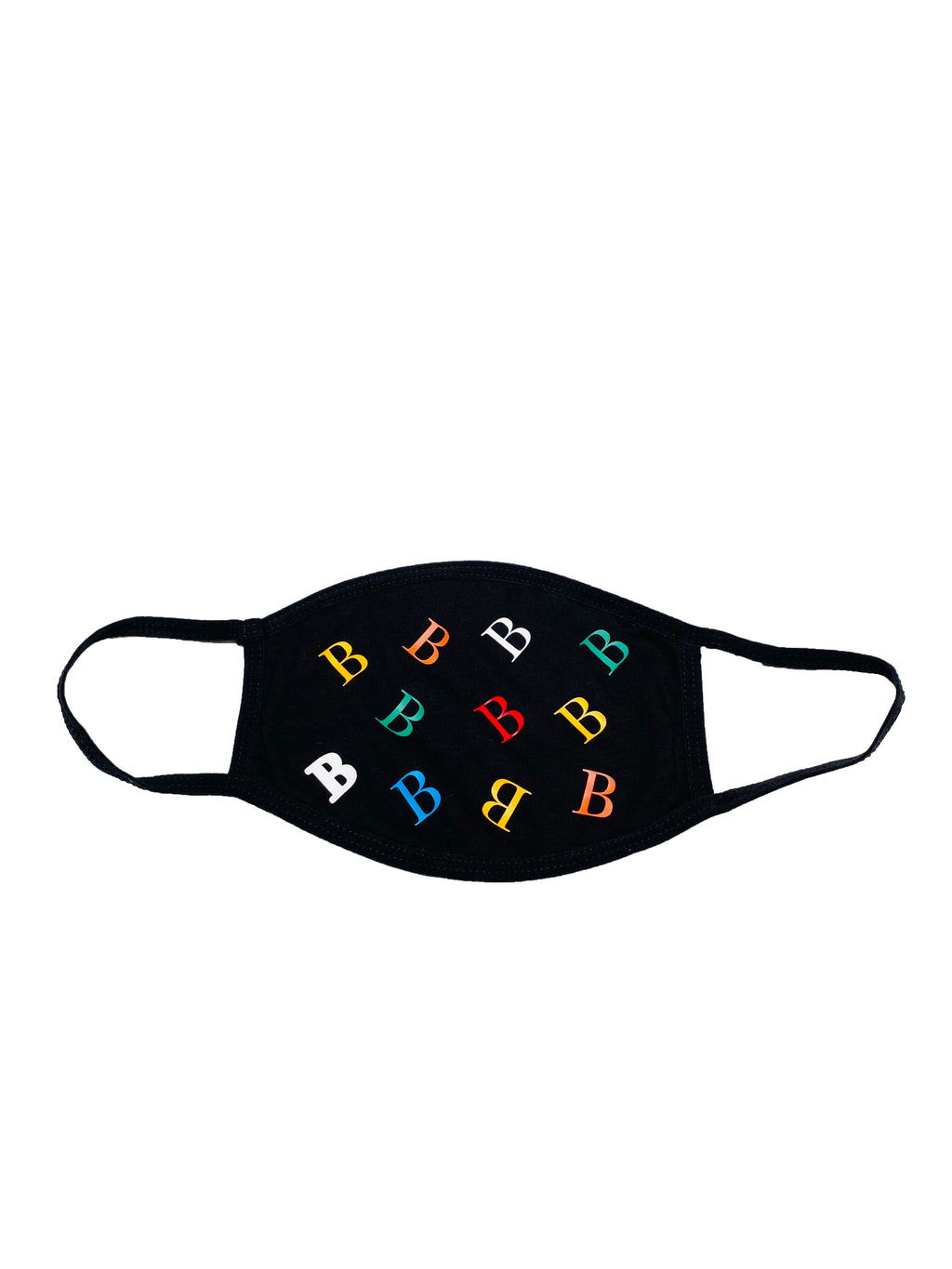 """B"" Allover Print Mask"