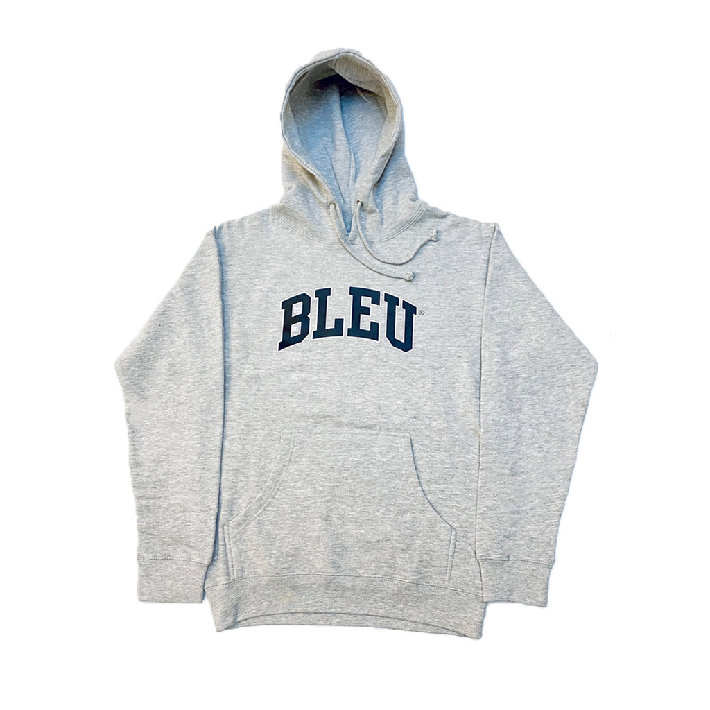 "Heather Grey ""BLEU"" Icon Hoodie"