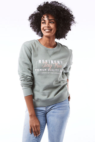 Sweat Top _ 110492 _ Light Blue -  Womens Tops - Refinery Clothing Store | South Africa