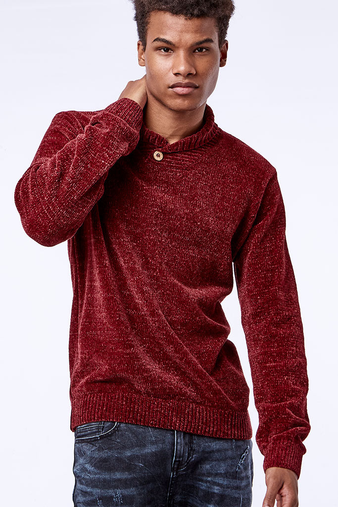 Shawl Jersey _ 111340 _ Burgundy -  Mens Tops - Refinery Clothing Store | South Africa