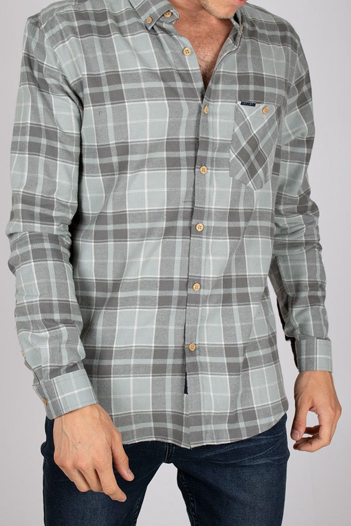 Check Shirt _ 111889 _ Charcoal -  Mens Tops - Refinery Clothing Store | South Africa