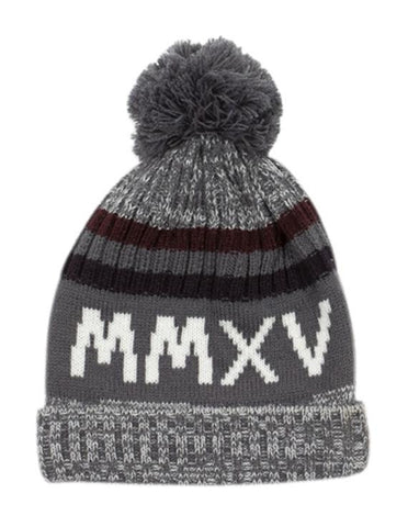 Beanie _ 112144 _ Charcoal - 120.00 - Accessories | Refinery Store | Mens & Womens Fashion