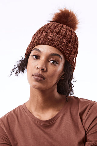 Ribbed Beanie _ 112146 _ Brick -  Accessories - Refinery Clothing Store | South Africa