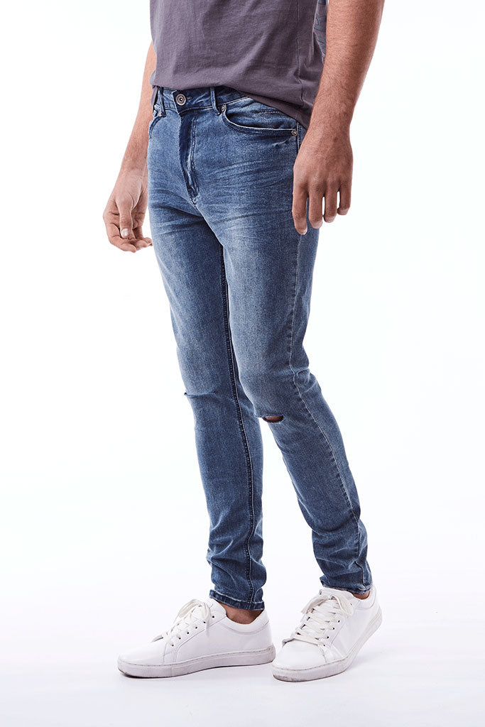 Rf10 Skinny _ 112266 _ Blue Denim -  Mens Bottoms - Refinery Clothing Store | South Africa