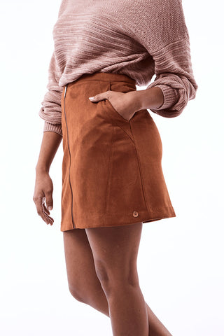 Panel Mini _ 112424 _ Tobacco -  Womens Bottoms - Refinery Clothing Store | South Africa