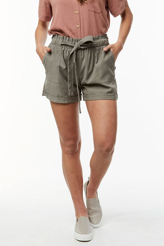 Paperbag Shorts _ 114776 _ Green