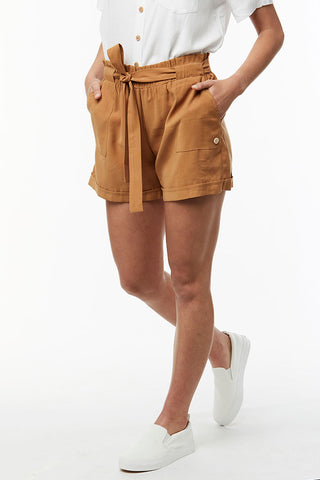 Paperbag Shorts _ 114776 _ Tobacco
