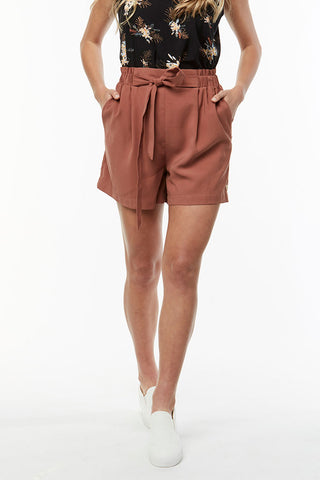 Paperbag Shorts _ 115606 _ Rust