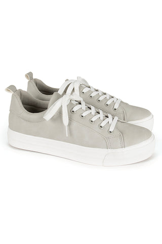 Lace-Up Sneaker _ 118354 _ Light Grey