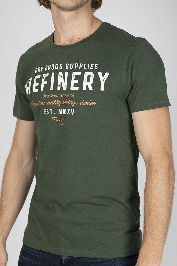 Branded Tee _ 111746 _ Green -  Mens Tops - Refinery Clothing Store | South Africa