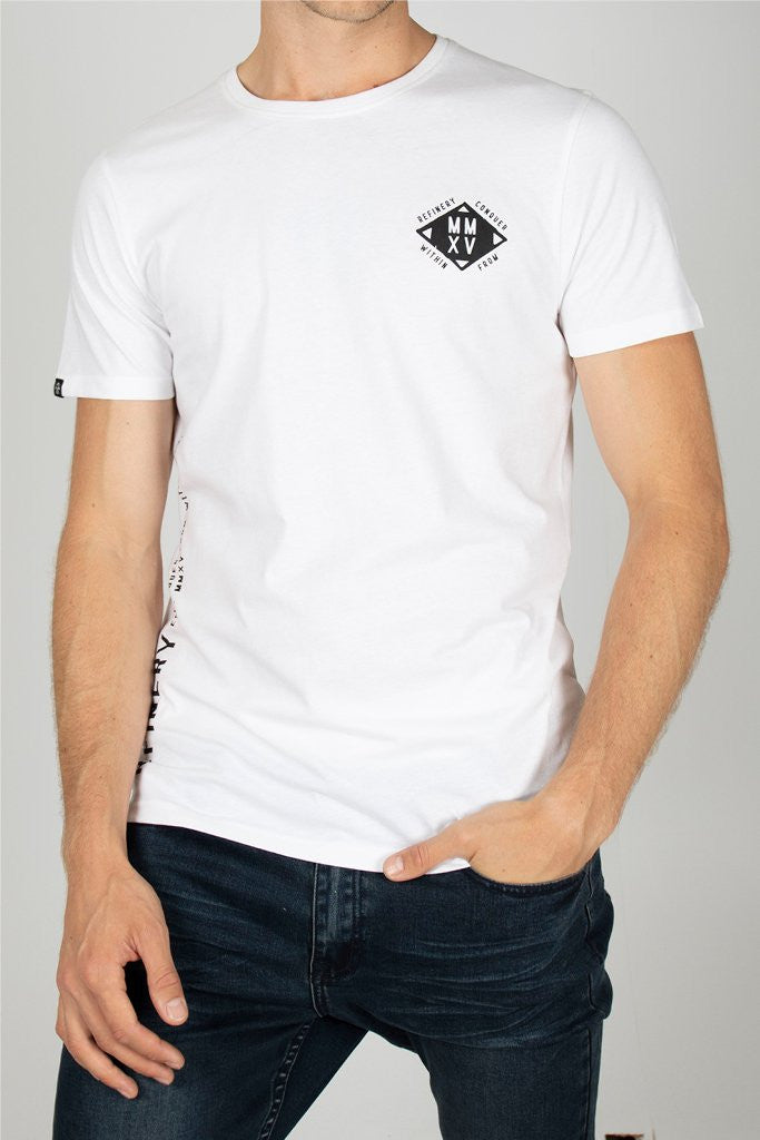 Branded Tee _ 111744 _ White -  Mens Tops - Refinery Clothing Store | South Africa