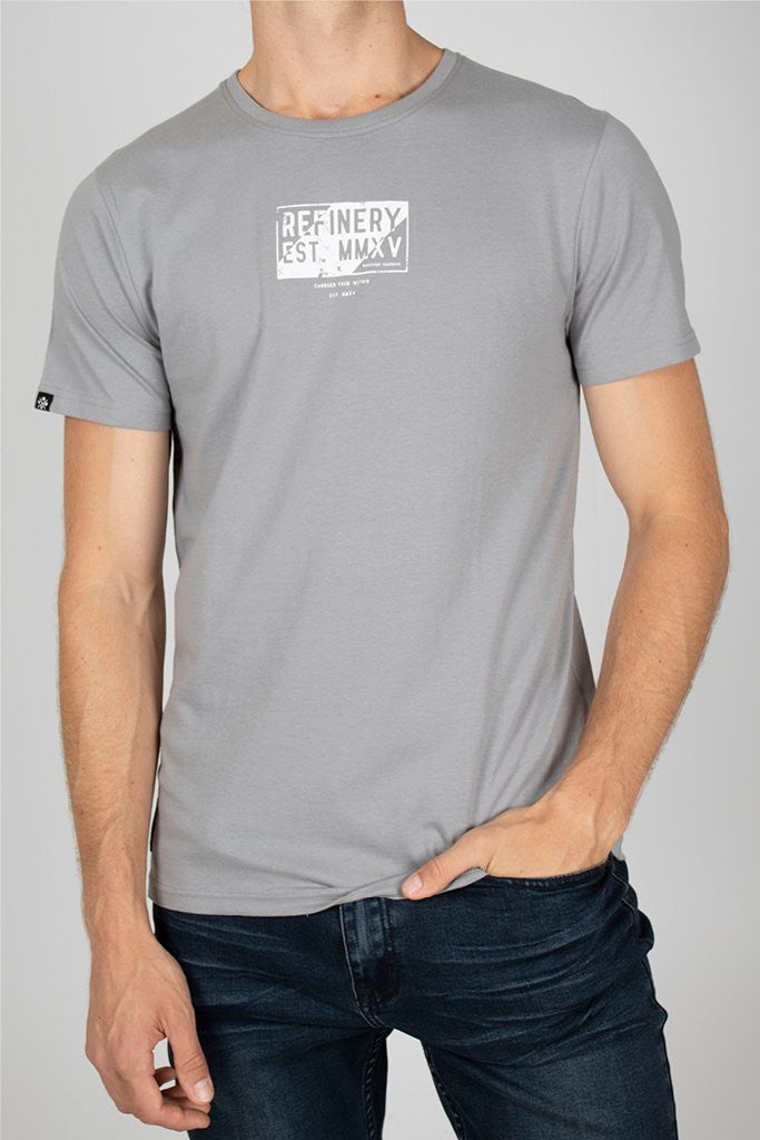 Branded Tee _ 111713 _ Charcoal -  Mens Tops - Refinery Clothing Store | South Africa