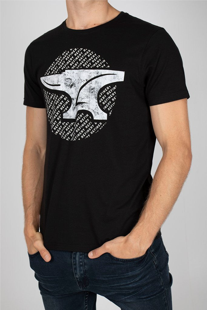 Branded Tee _ 111749 _ Black -  Mens Tops - Refinery Clothing Store | South Africa