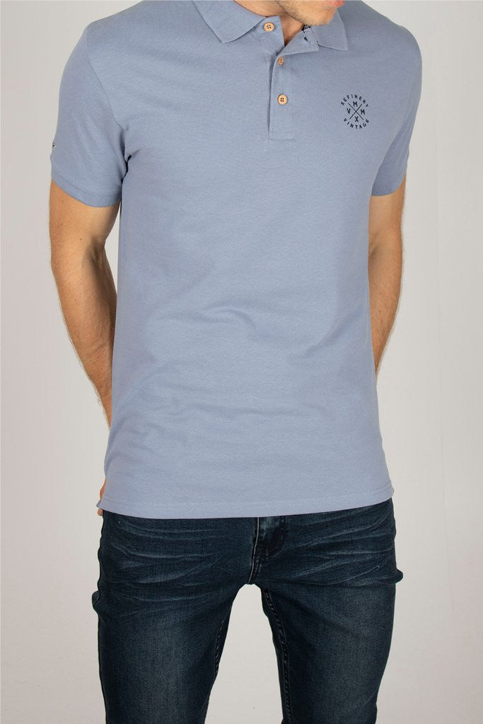 Core Golfer _ 110505 _ Pale Blue -  Mens Tops - Refinery Clothing Store | South Africa