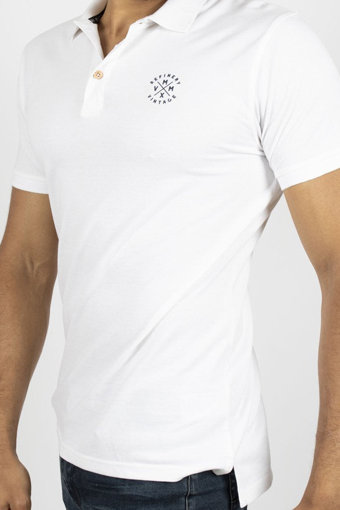 Core Golfer _ 110505 _ White -  Mens Tops - Refinery Clothing Store | South Africa