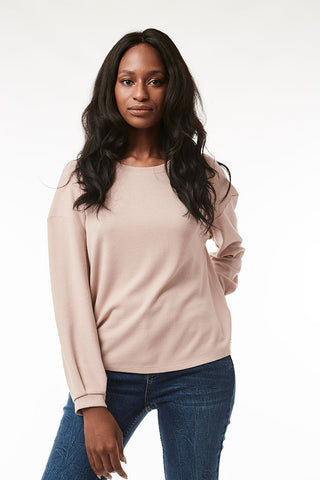 Waffle Knit Top _ 118441 _ Nude