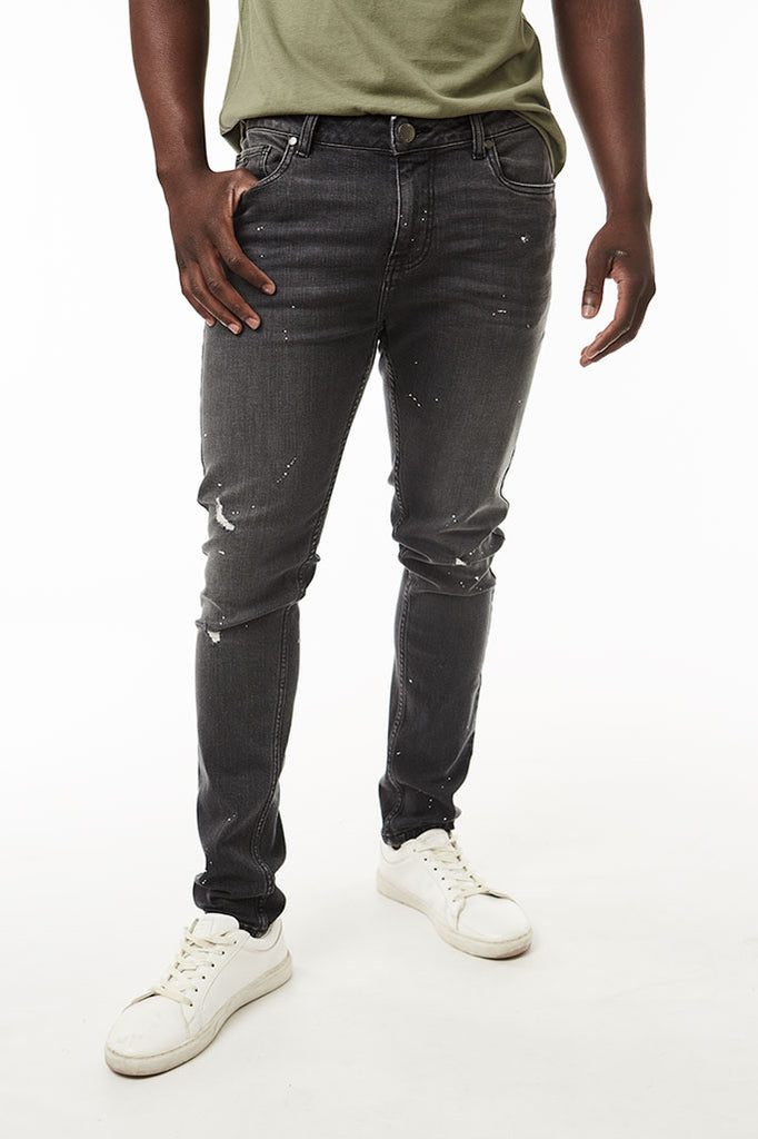 Rf02 Splatter Super Skinny _ 114484 _ Charcoal