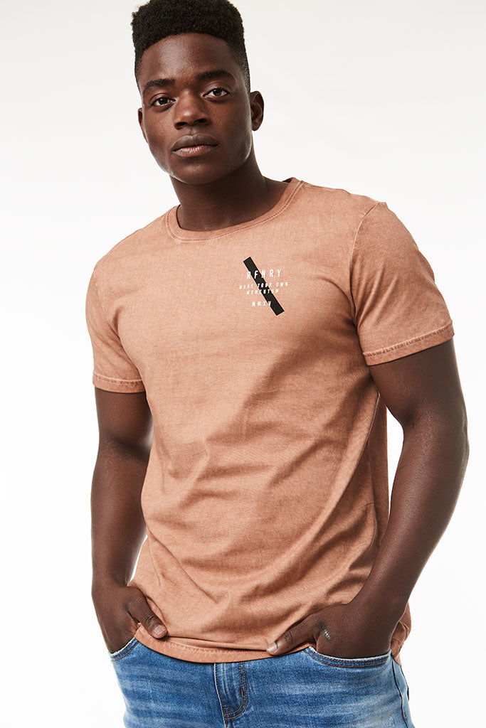 Dirty Dye Tee _ 119033 _ Tan