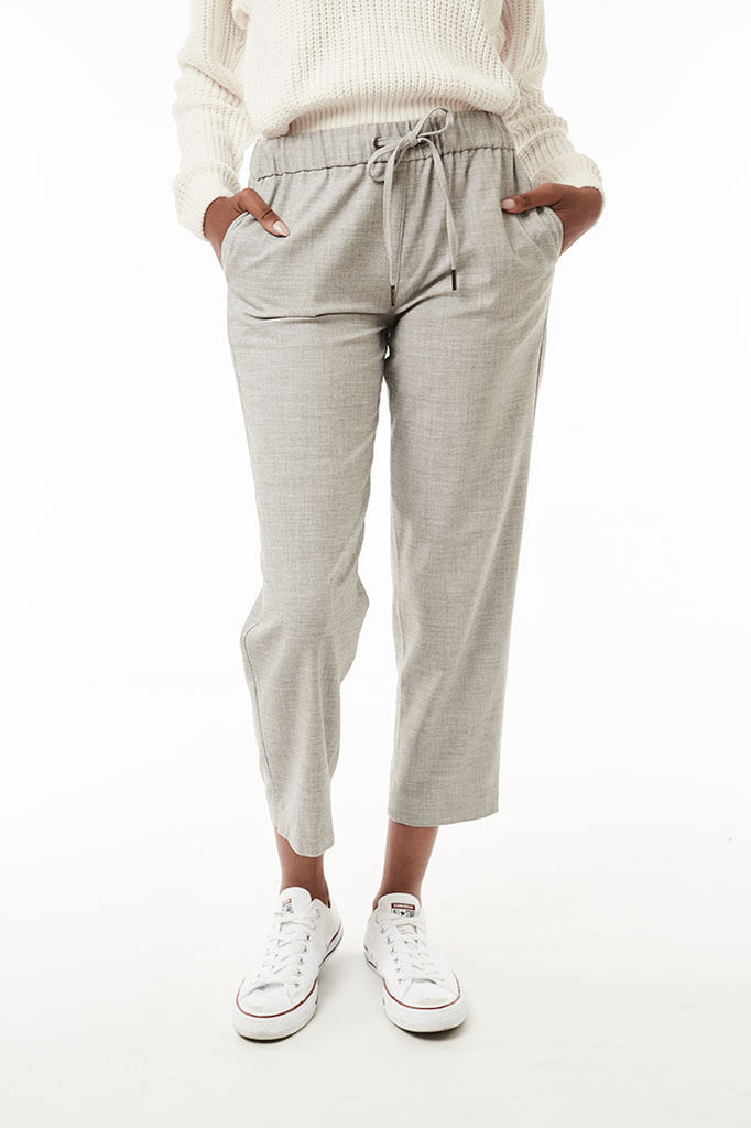 Elasticated Trousers _ 118553 _ Grey Mel