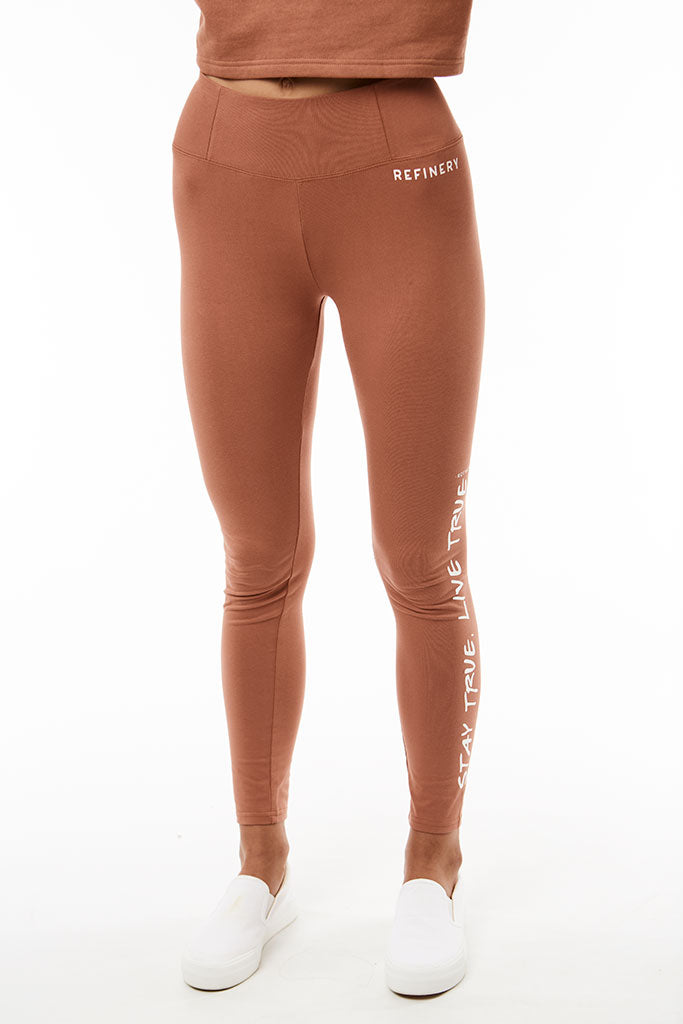 Branded Leggings _ 120705 _ Copper