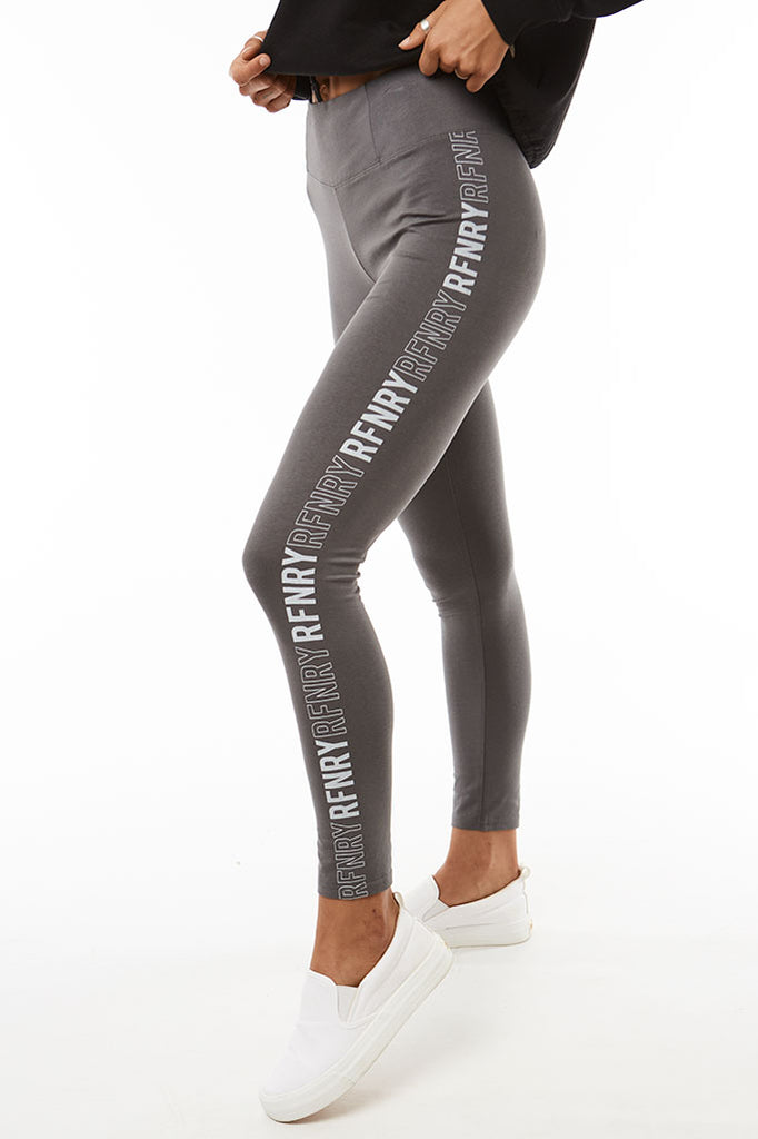 Branded Leggings _ 120704 _ Charcoal