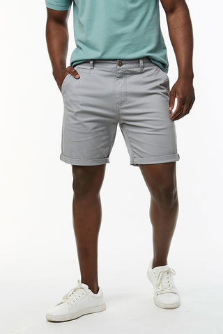Slim Fit Chino Shorts _ 114536 _ Grey