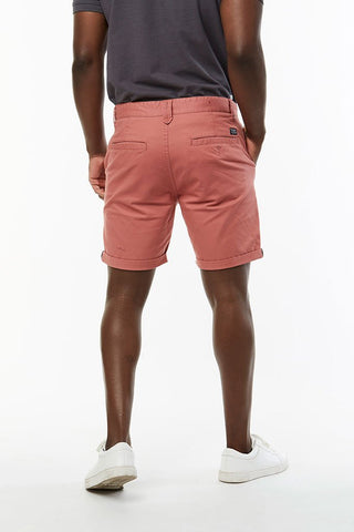 Slim Fit Chino Shorts _ 114536 _ Rust