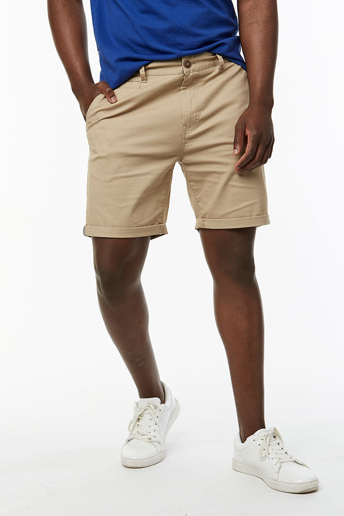 Slim Fit Chino Shorts _ 114536 _ Stone