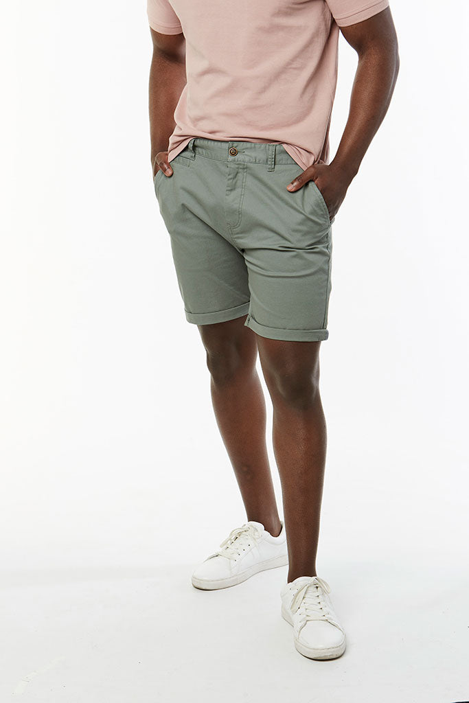 Slim Fit Chino Shorts _ 114536 _ Fatigue
