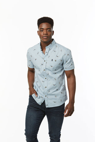 Floral Shirt _ 114665 _ Pale Blue