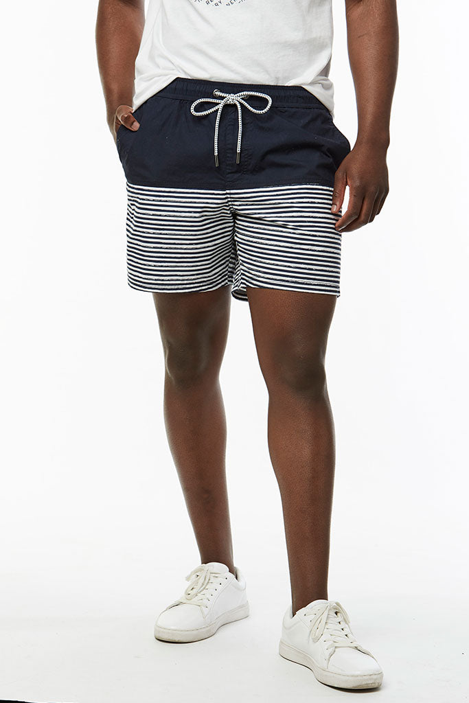 Striped Cuba Shorts _ 114578 _ Ink