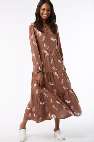 Tiered Maxi Dress _ 118438 _ Brown