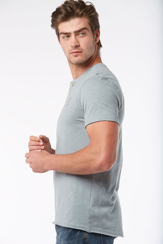 Henley Tee _ 115464 _ Pale Blue