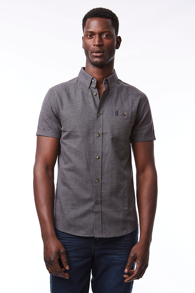 Linen Shirt _ 114671 _ Dark Grey