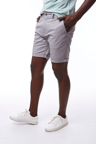 Printed Chino Shorts _ 114562 _ Grey