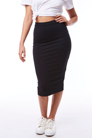 Bodycon Midi Skirt _ 115206 _ Black