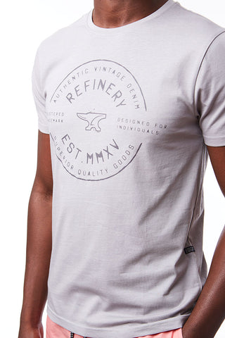 Branded Tee _ 115066 _ Light Grey