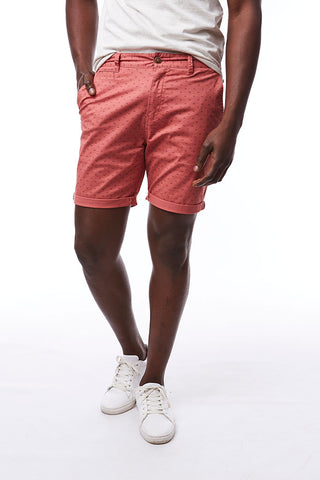 Printed Chino Shorts _ 114567 _ Rust