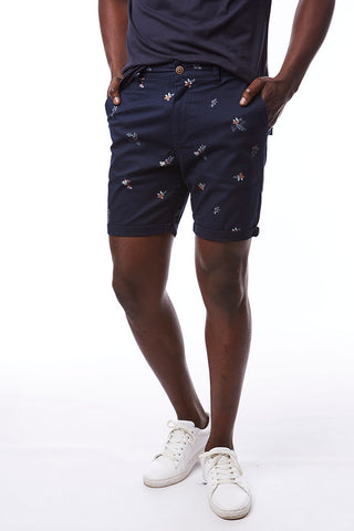 Printed Chino Shorts _ 114566 _ Ink